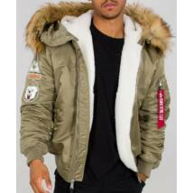 Alpha Industries  MA 1 Hooded Arctic -stratos