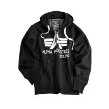 Big A Classic Zip Hoody pulóver - fekete