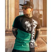 Matera fekete/zöld  póló