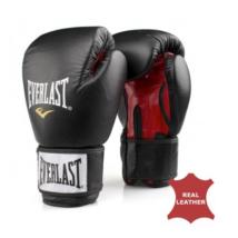Fighter kesztyű - bőr, fekete