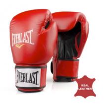 Fighter kesztyű - bőr, piros