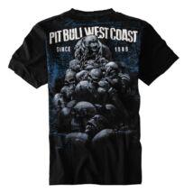 Skull Dog póló - fekete