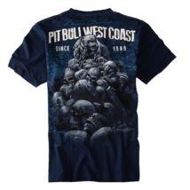 Skull Dog póló - sötétkék