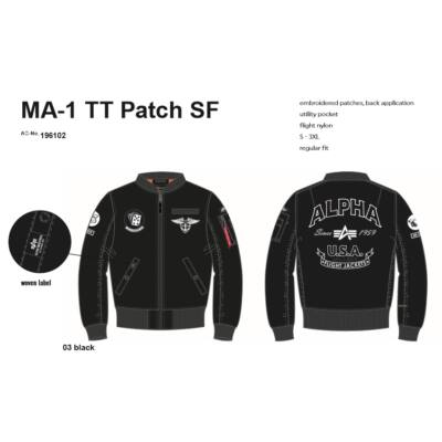 Alpha Industries MA 1 TT Patch SF