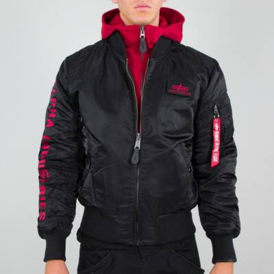Alpha Industries MA-1 D-Tec SE kabát - fekete/szürke