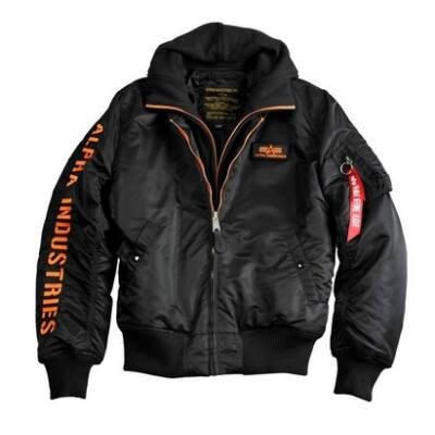 Alpha Industries MA-1 D-Tec SE kabát - fekete/narancs