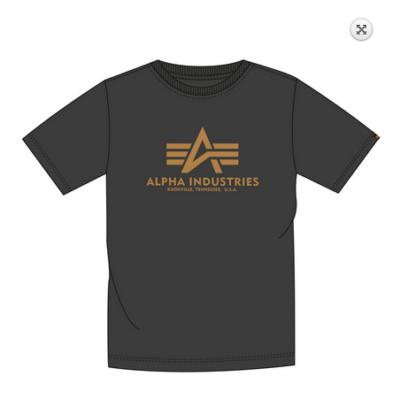 Alpha Industries Basic póló - fekete/arany