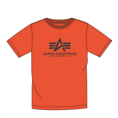 Alpha Industries Basic póló - flame orange