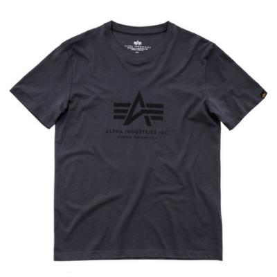 Alpha Industries Basic póló - greyblack/fekete