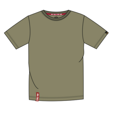 Alpha Industries Blood Chit póló - olive