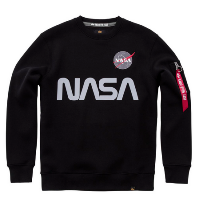 Alpha Industries NASA Reflective pulóver - fekete