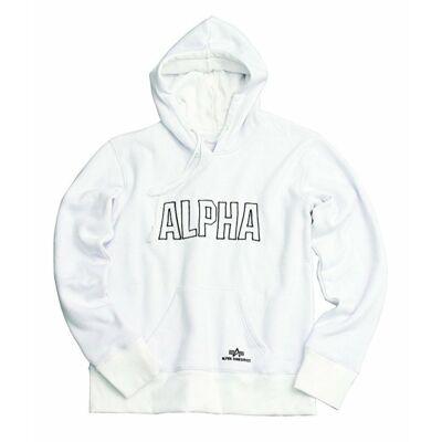 Alpha Industries Track Hoodie pulóver - fehér
