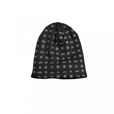 All Over Loose Beanie - fekete