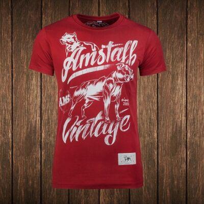 Vintage Farkas póló - bordó