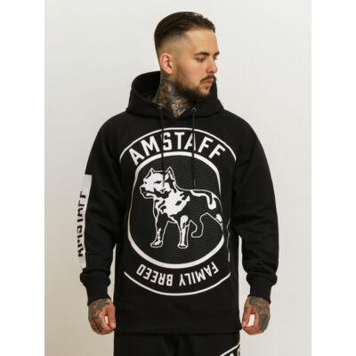 Battito fekete kapucnis bebújós pulóver