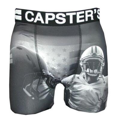 Capster's amerikai focis boxeralsó - fekete/fehér