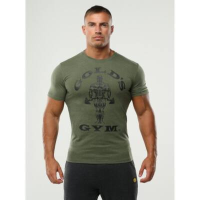 Gold's Gym edzőpóló - khaki