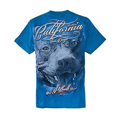 Pitbull West Coast California Dog póló