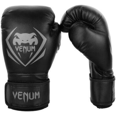 Venum Contender műbőr bokszkesztyű - fekete/szürke