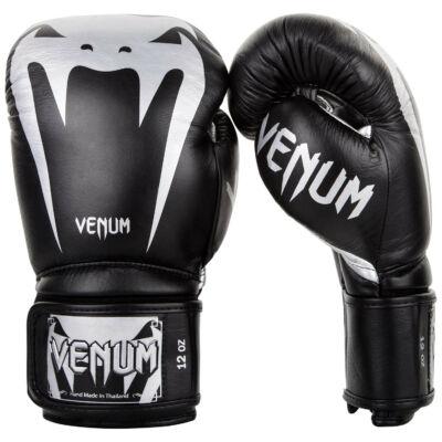 Venum Giant 3.0 bőr bokszkesztyű - fekete/ezüst